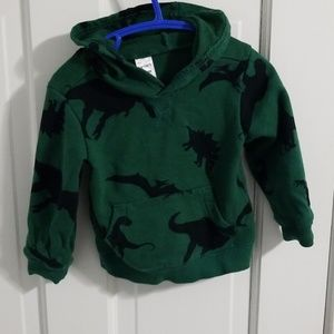 Dinosaur hoodie green 24 months